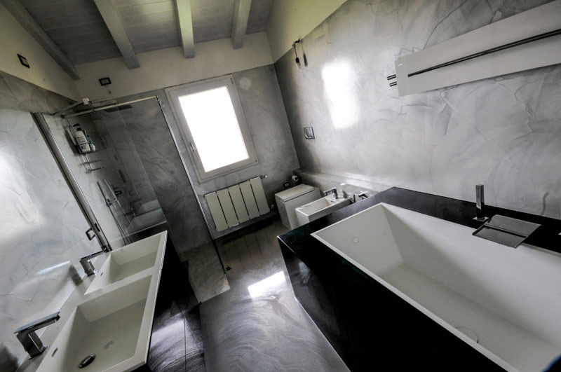 Gallery of resina effetto lucido with bagno in resina - Coprire piastrelle bagno resina ...